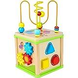 Dreampark ルーピング ビーズコースター おもちゃ 赤ちゃんおもちゃ人気 多機能 アクティビティキューブ 子ども 知育玩具人気 カラフル 木製 赤ちゃん マルチプレイセット