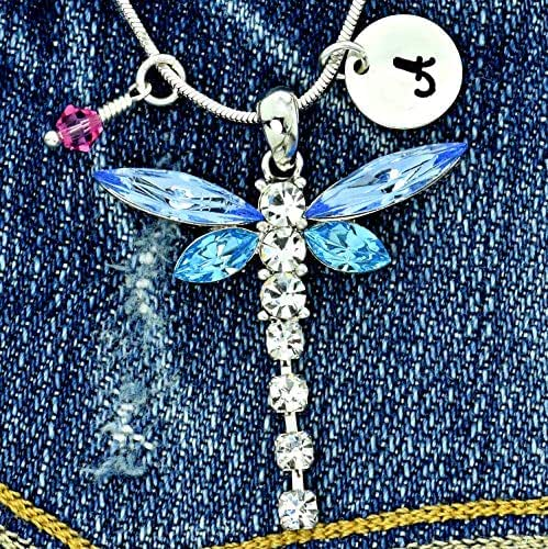 Sparkling Crystal Block Ring Chandelier: Amazon.com: Personalized Dragonfly Blue Pendant Sparkling