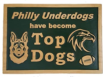 Philly Underdog Plaque Two-Tone Green