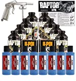 U-POL Raptor Safety Blue Urethane Spray-On Truck Bed Liner Kit w/ Free Spray Gun, 8 Liters