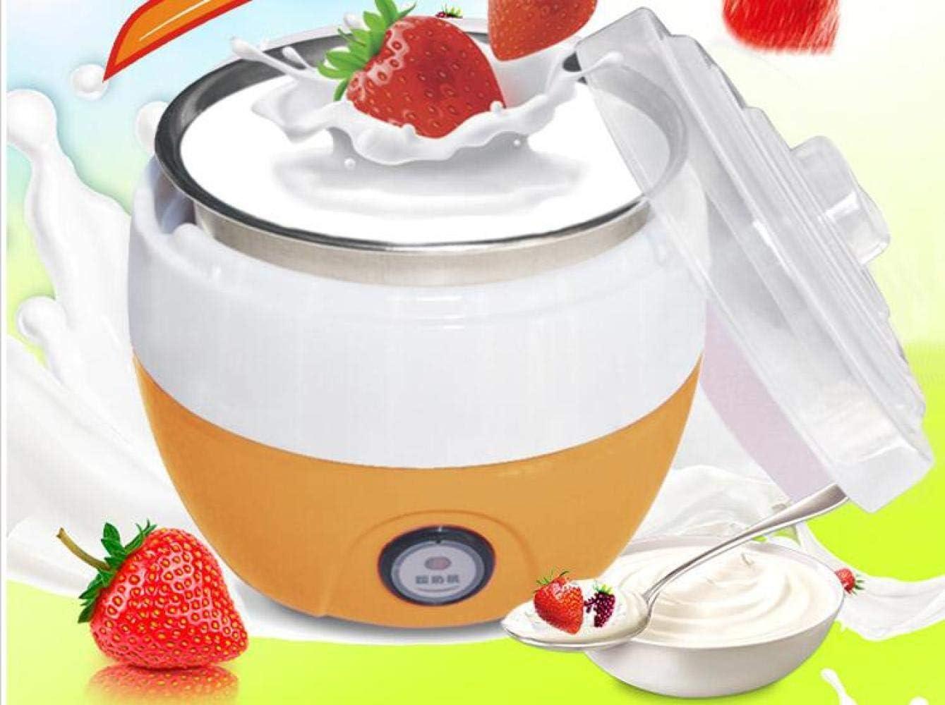 220 V Elettrico Yogurt Maker Fai Da Te Yogurt Strumento Elettrodomestici Da Cucina In Acciaio Inox Yogurt Maker Natto Macchina Ue/Au/Uk/Us Orange Pink