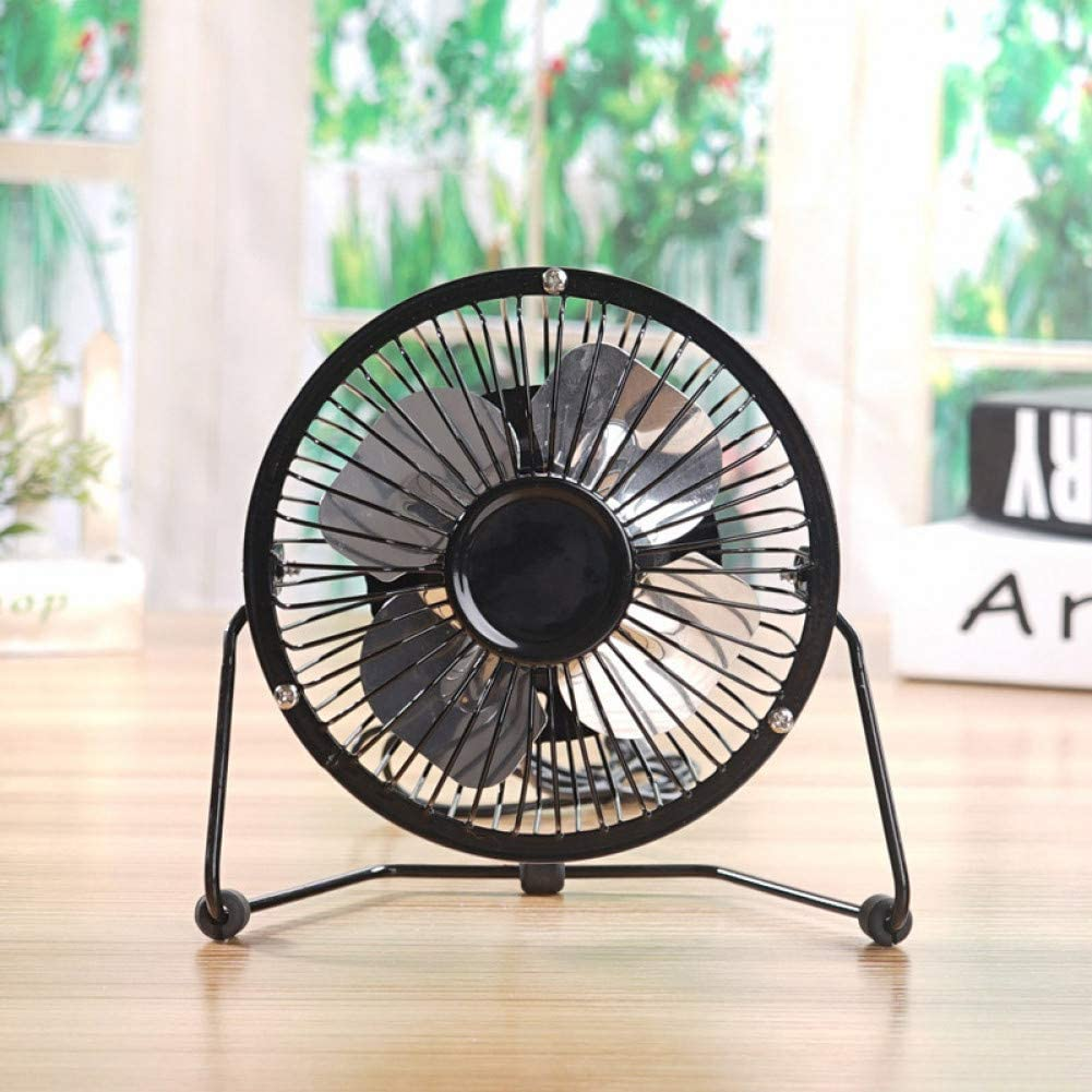 WWDDVH Mini Luz Colgante Cuello Carga USB Pequeño Ventilador Portátil Lazy Desktop Fan Travel Gadget Office Cooling Ventilador 360 ° Ajustable
