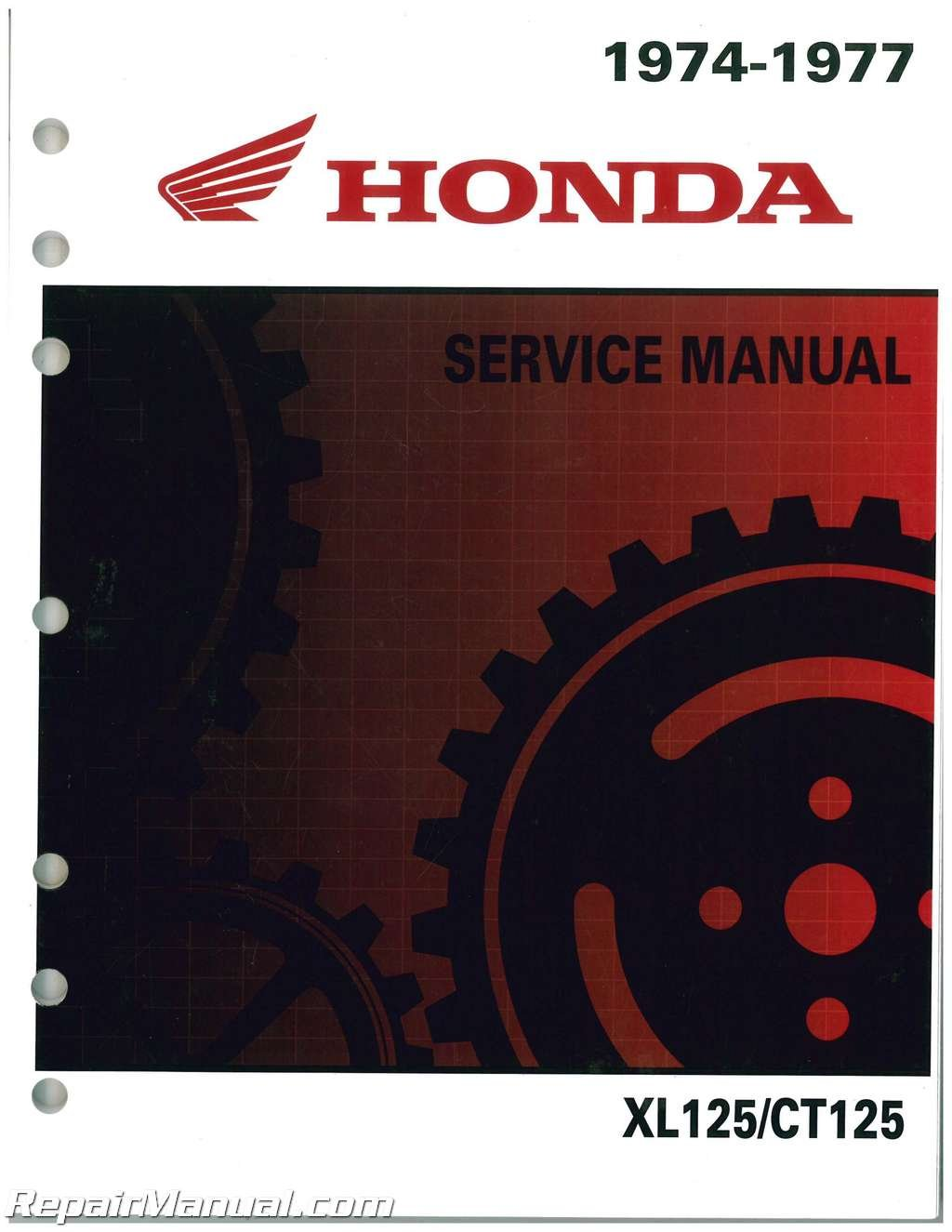 6136506 1974-1978 XL125, 1977 CT125 Honda Motorcycle Shop Manual:  Manufacturer: Amazon.com: Books