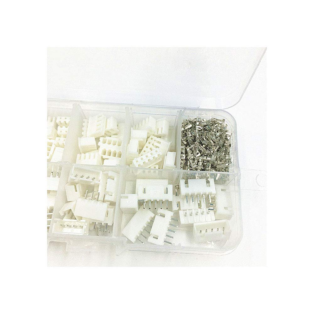 230pcs XH2.54 2p 3p 4p 5 pin 2.54mm Pitch Terminal Kit//Housing//Pin Header JST Connector Wire Connectors Adaptor XH Kits TJC3