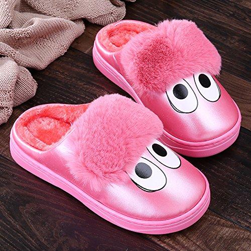 LaxBa Femmes Hommes Chaussures Slipper antiglisse à lintérieur La Western Red 41/42