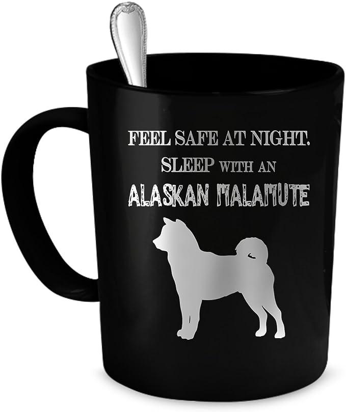 Alaskan Malamute Coffee Mug Alaskan Malamute Gift 11 Oz Black Kitchen Dining