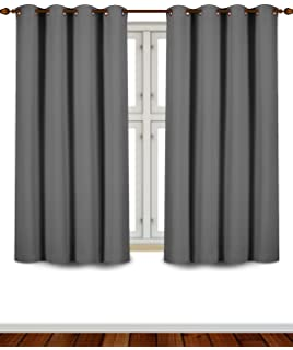Utopia Bedding Grommet Top Thermal Insulated Blackout Curtains, 2 Panels,  52 X 63 Inch