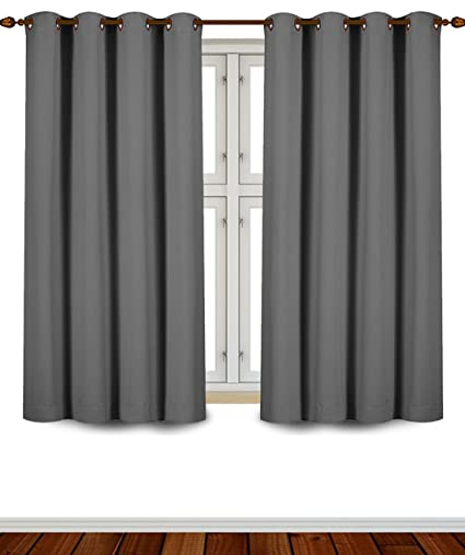 Amazon.com: Utopia Bedding Grommet Top Thermal Insulated Blackout Curtains,  2 Panels, 52 X 63 Inch, Grey: Home U0026 Kitchen