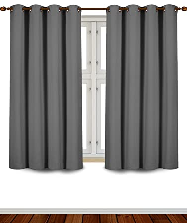 Blackout Curtains blackout curtains 63 : Amazon.com: Utopia Bedding Grommet Top Thermal Insulated Blackout ...