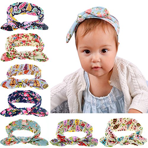 [Welandtech Baby Girl Turban Headband Head Wrap Knotted Hair Band 8 Value Pack] (Diy Cute Costumes For Teenagers)