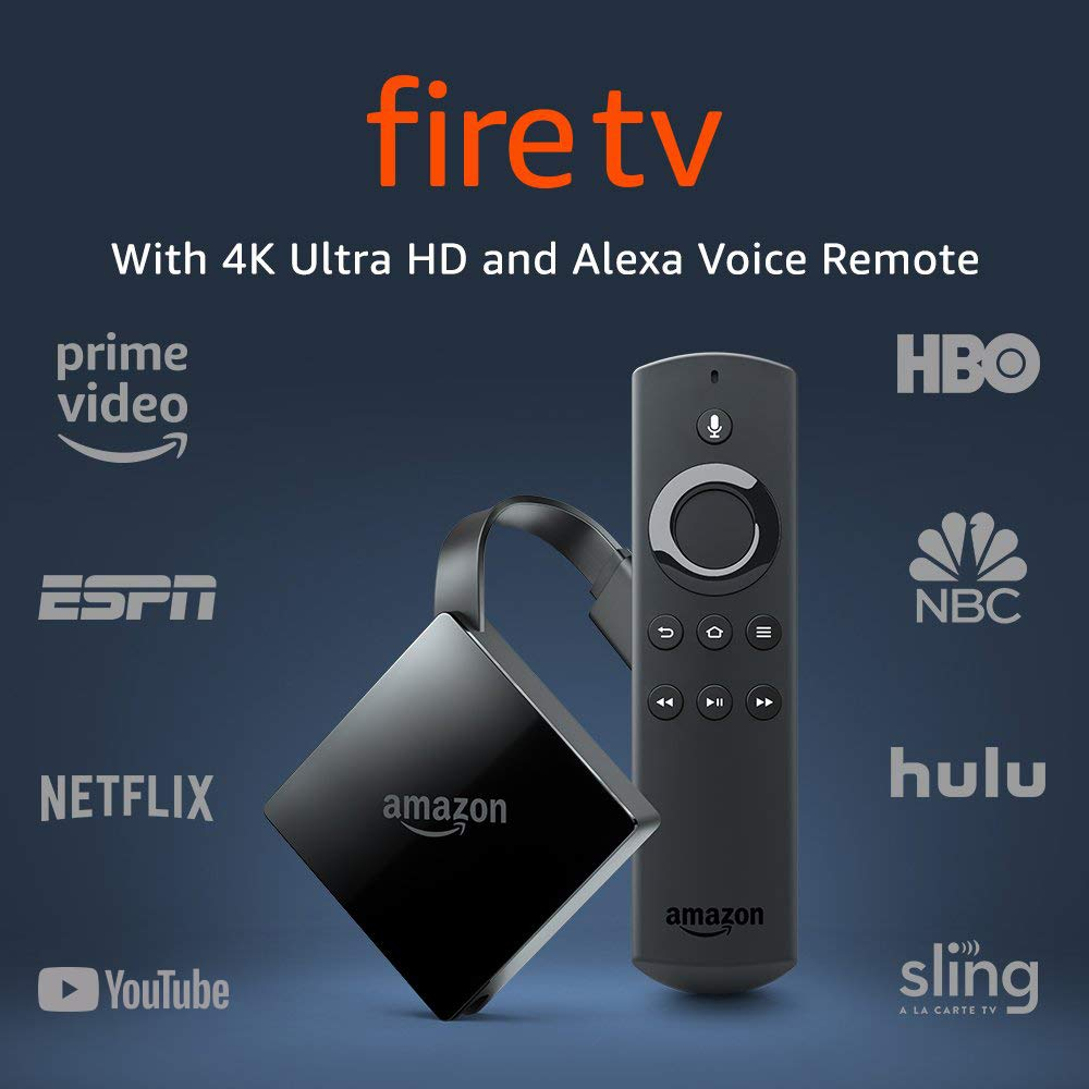 Amazon Fire TV w/ 4K & Alexa Voice Remote - New