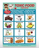TOXIC FOODS Poison for Pets Dogs Cats Emergency ICE Home Alone Refrigerator Magnet (Qty. 1)