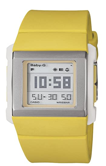 Casio BG-2000-9ER - Reloj digital de mujer de cuarzo con correa de resina amarilla (cronómetro, alarma, luz) - sumergible a 100 metros: Amazon.es: Relojes