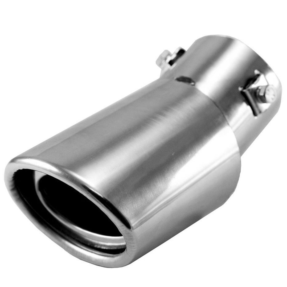 WINOMO Universal Stainless Steel Drop Down Auto Car Exhaust Tail Pipe Tailpipe Muffler Silencer Pipe (Silver)