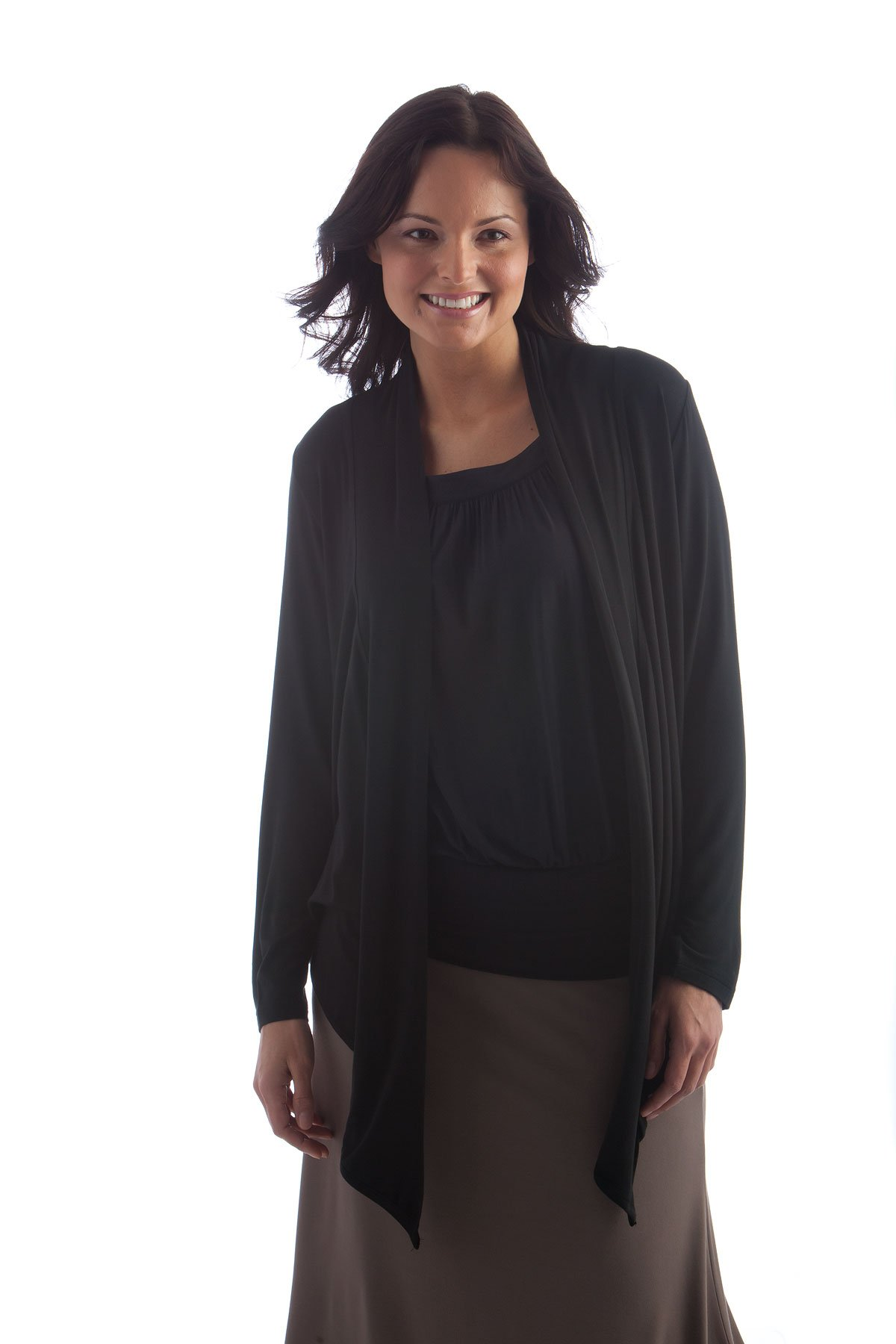 BSWR440 One Size Black BambooDreams 'Sophie' Short Wrap