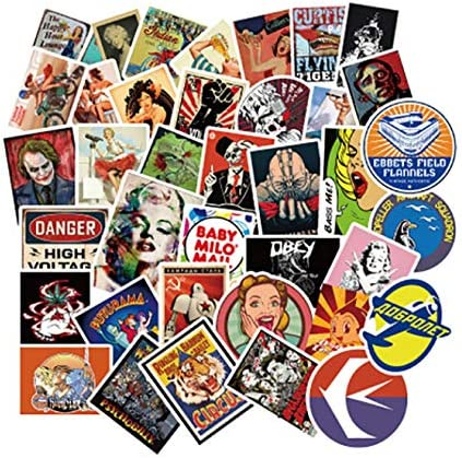 50pcs/pack Classic Fashion Graffiti Stickers For Moto car & anime ...