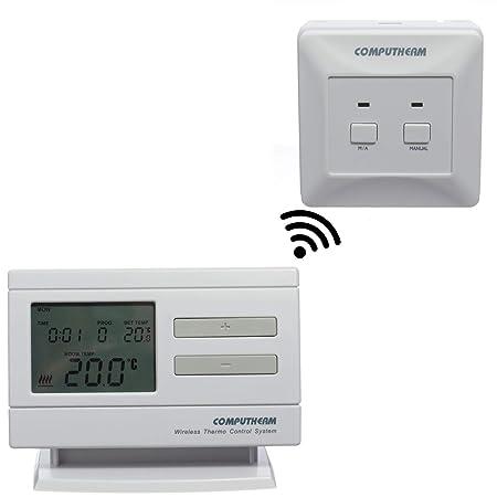 COMPUTHERM Q7RF termostato digital inalámbrico programable de interiores para calefacción, aire acondicionado y suelo radiante-Regulador inalámbrico