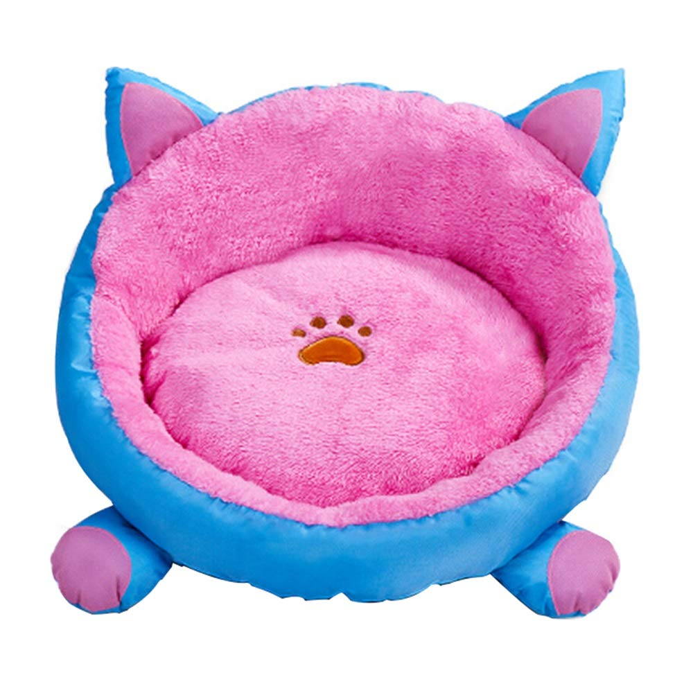 4848cm JiaJia- Pet Nest Removable and Washable Winter Kennel Cat Sleeping Bag Pet Cat Mat Teddy Small Kennel Four Seasons Universal38  38cm 48  48cm Kitten Puppy pet nest (Size   48  48cm)