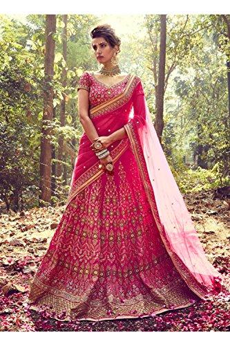 IWS Indian Women Designer Wedding p[ink Lehenga Choli K-4758-42020