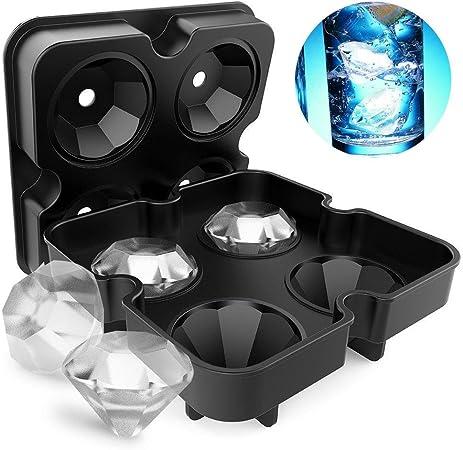 3 Pack Silicone Ice Cube Plateaux avec Spill Résistant Couvercle Amovible facile libération