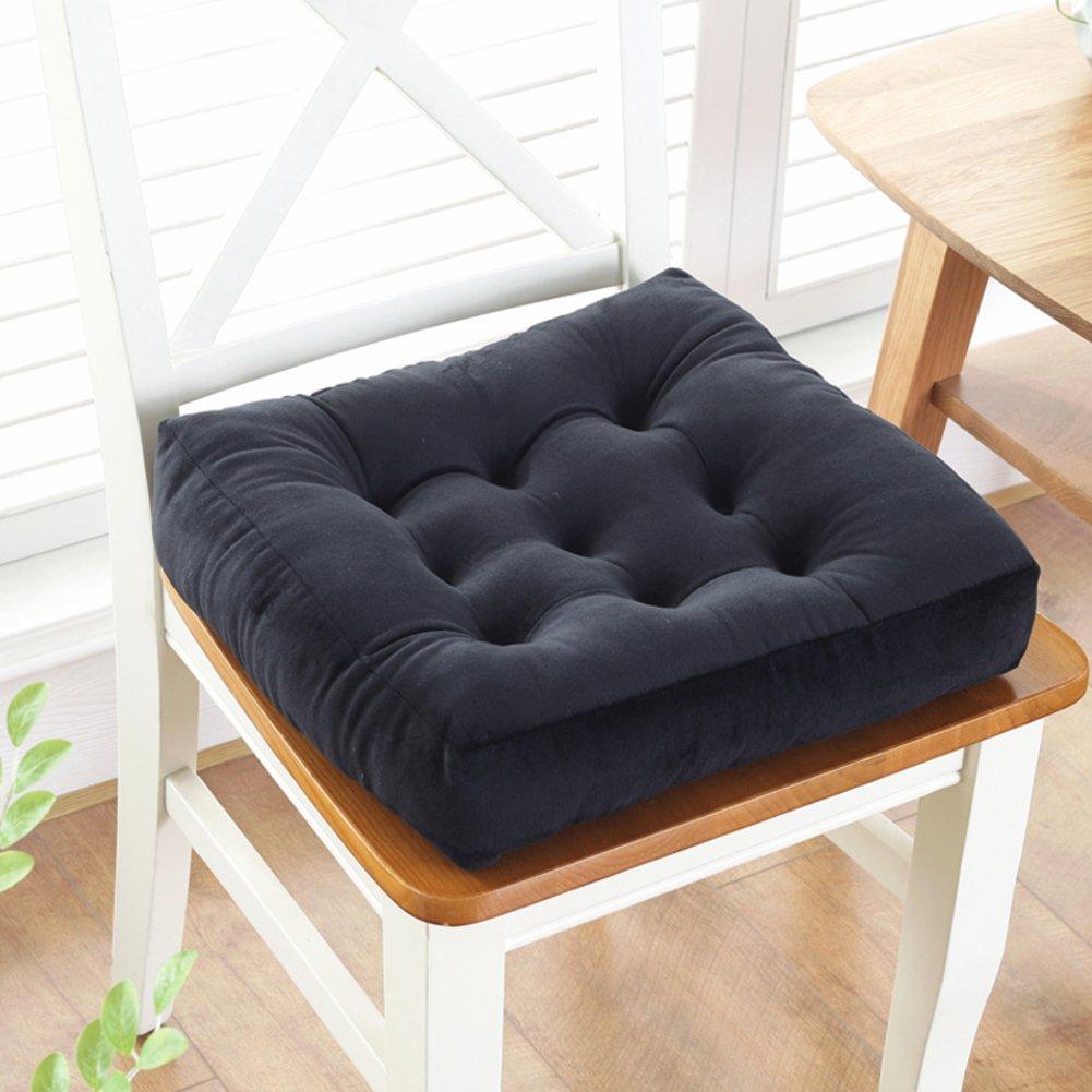 LELI 布製プラッシュパッド プレミアムパッド 椅子クッション キルトシートパッド 45x45cm(18x18inch) ブラック LELIA359 45x45cm(18x18inch) ブラック B07DN47QN8