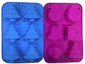 Conjunto de 2 silicona Navidad Candy, tarta, hielo, & Jabón DIY – Moldes