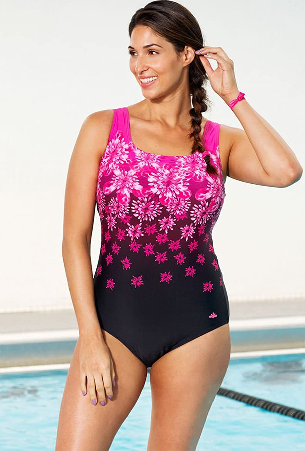 Aquabelle Women's Exploded Floral Tank Swimsuit