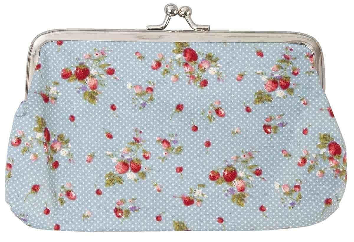 Clayre&Eef Wallet財布Portemonnaie Strawberriesブルーレッド18 x 12 cm   B00PCE95FU