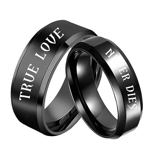 Amazon.com: Aooaz Anillos de promesa para parejas, anillo de ...