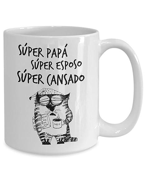 Tazas Gato Chistosas para el cafe un Buen Regalo para mi esposo Super Papa Mejor Padre