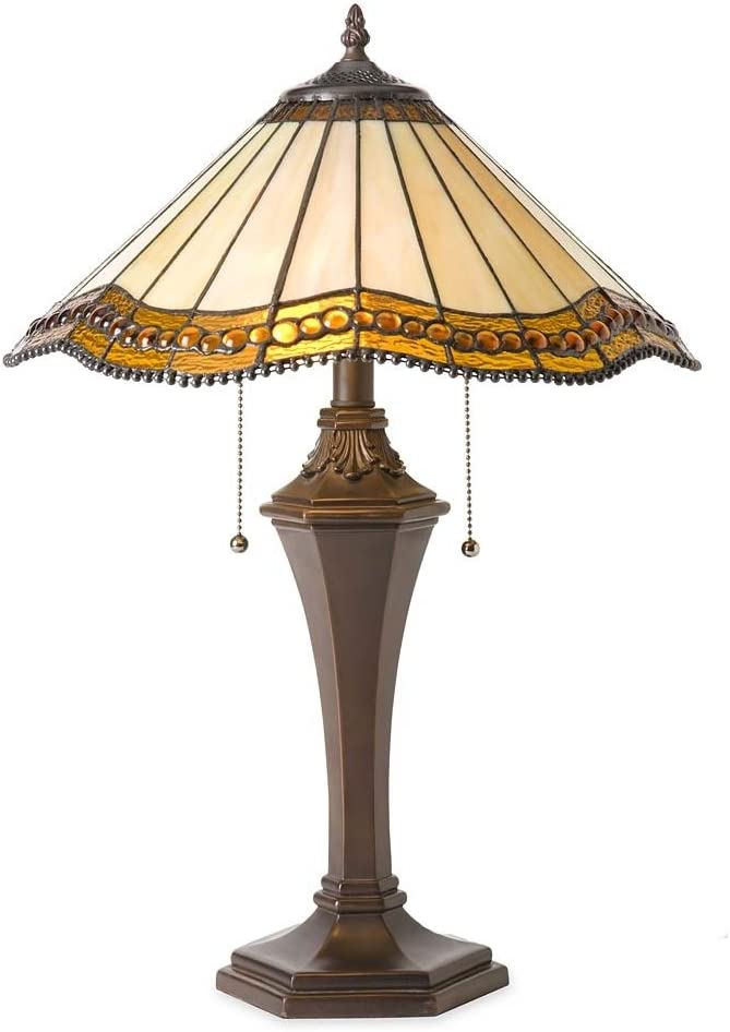 Plow Hearth Oak Park Tiffany-Style Table Lamp