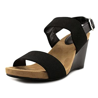 bec9b3c4647 Style   Co. Womens Fillipi Open Toe Casual Slingback Wedges Sandals Black  Size 6.0