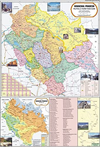 detailed himachal pradesh political map Buy Himachal Pradesh Map Book Online At Low Prices In India detailed himachal pradesh political map