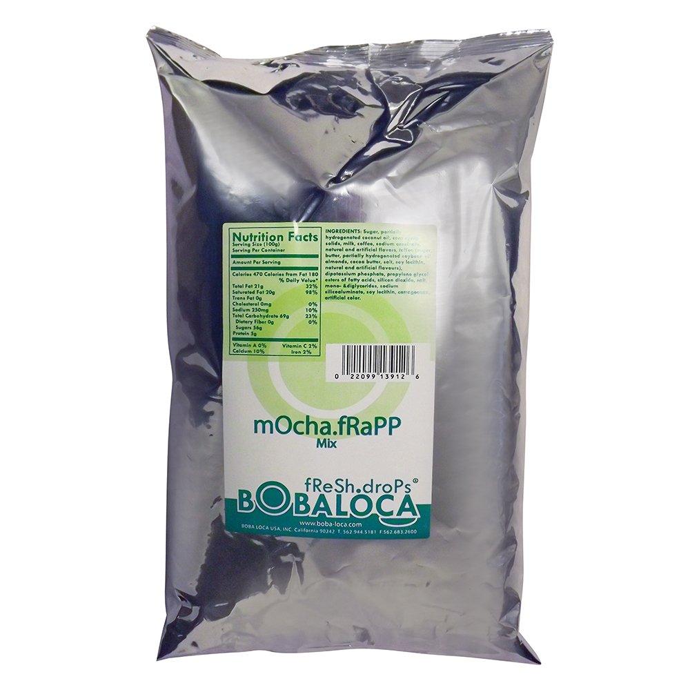 Boba Loca Mocha Frapp Powder Mix, 4 lbs (1.81kg) BAG