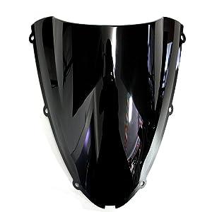 MFS MOTOR Double bubble Windshield Windscreen For Kawasaki Ninja ZX10R 2006-2007 ZX6R 636 2005-2008