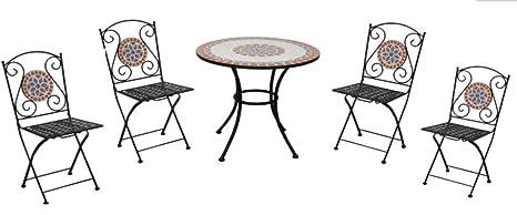 Tavoli Da Giardino Ceramica.Tavolo Da Giardino Con Sedie In Ceramica E Ferro