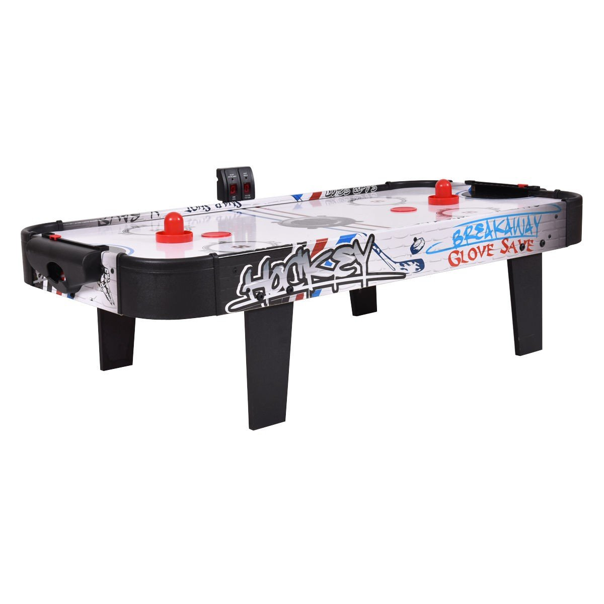 CWY 42'' Air Powered Hockey Table Top Scoring 2 Pushers Only by eight24hours