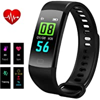 Bracelet Fitness Tracker, Hizek Montre Connectée Sport Smartwatch Fitness Tracker d'Activité avec Cardiofréquencemètre Moniteur de Sommeil Femme Homme Pour iPhone Huawei Samsung Xiaomi - Noir