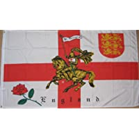 England Rose and Lion Charger St George 5'x3' Flag
