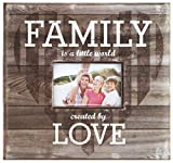 MCS MBI 12.5x13.5 Inch 'Family is a Little World Created by Love' Scrapbook Album with 12x12 Inch Pages with Photo Opening, Brown (860080)