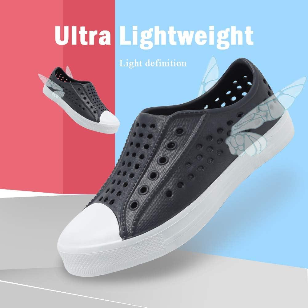 seannel Kids Slip-On Sneaker Lightweight/Breathable Sandal Water Shoes Outdoor /& Indoor-U819STLXS001-Grey-24