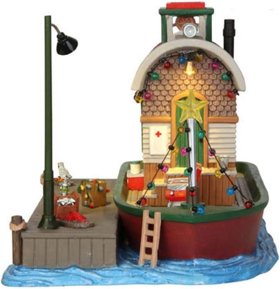 Lemax Porcelain Village Building Houseboat Celebration