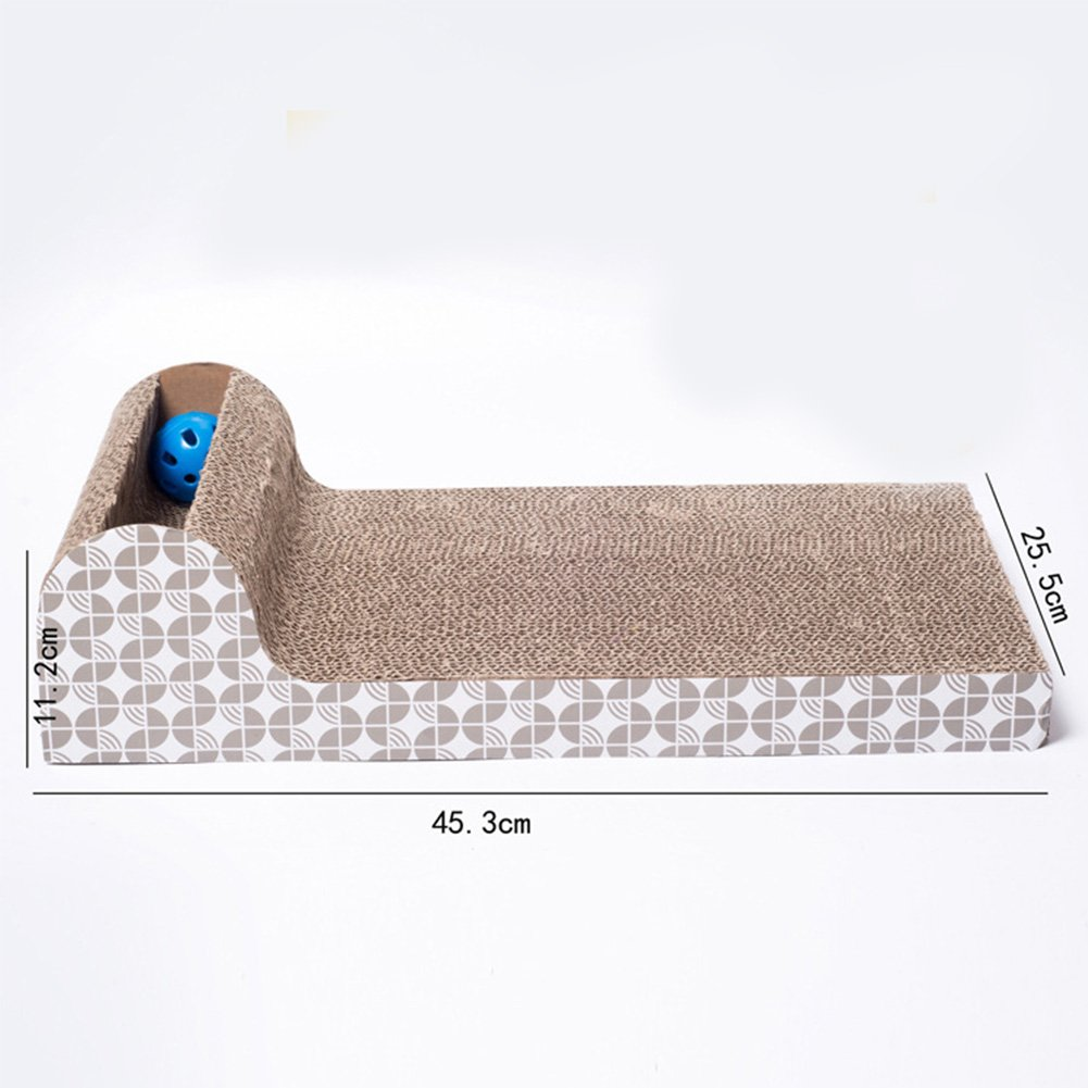 Amazon.com : Woopower Pet Cat Scratch Play Pad Large Plate Horizontal Corrugated Sofa Grinding Tool : Pet Supplies