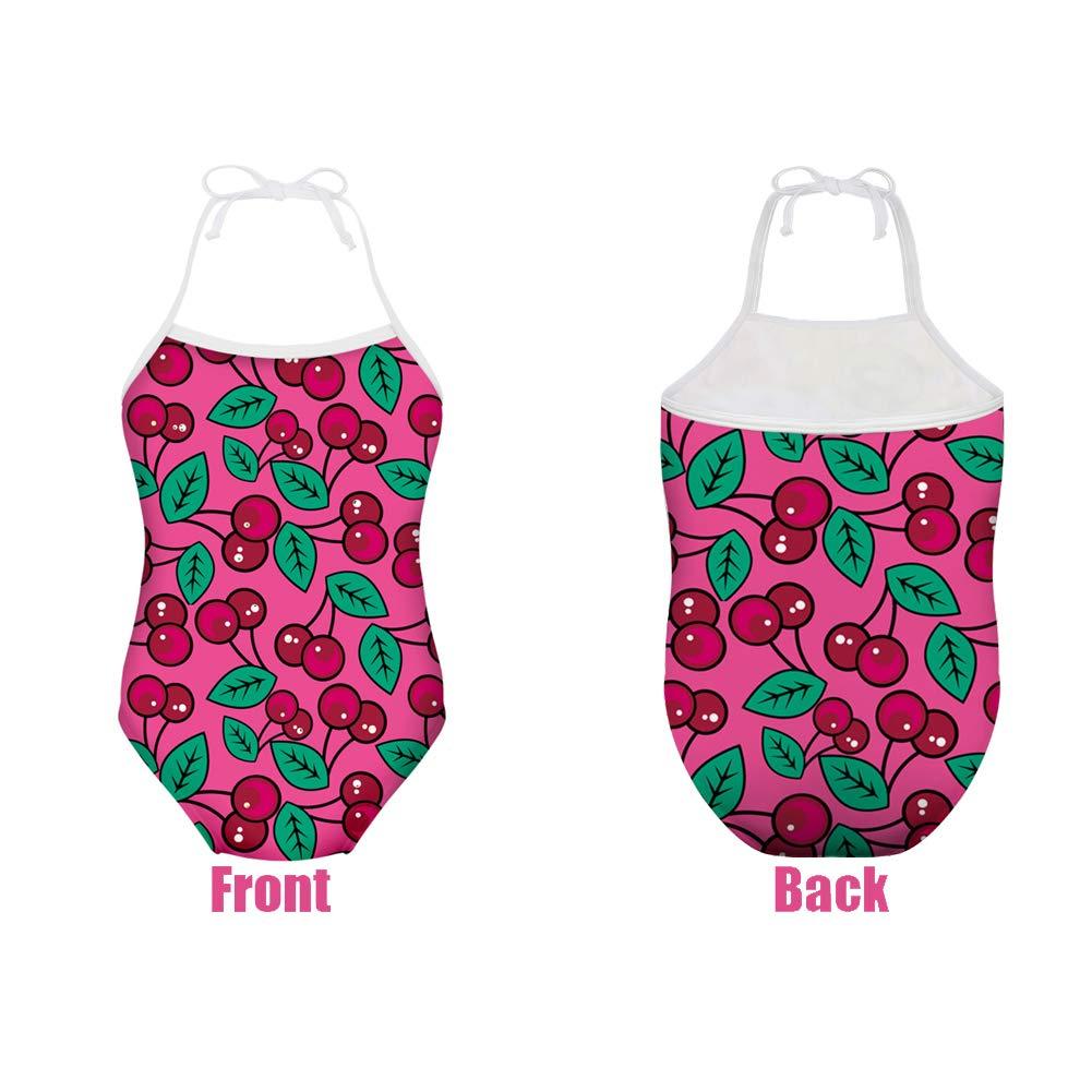 Freewander Kids Swimwear One Piece Cute Swimsuits Bathing Suits