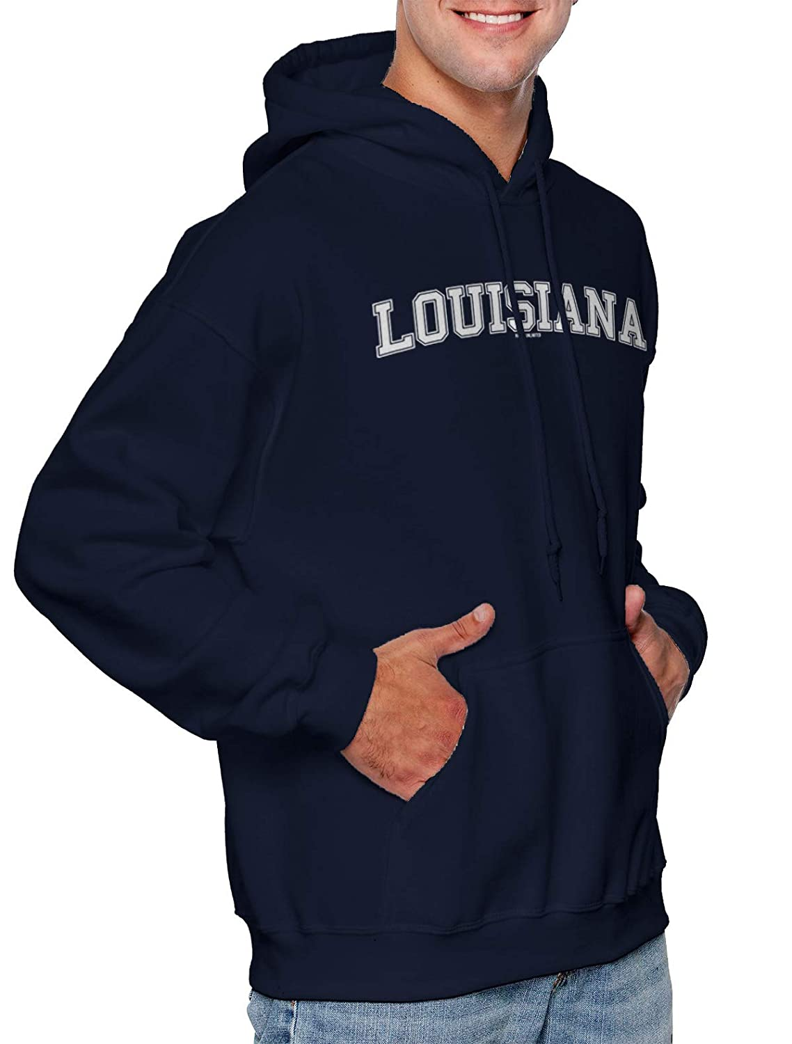 State School University Sports Unisex Hoodie Sweatshirt HAASE UNLIMITED Louisiana