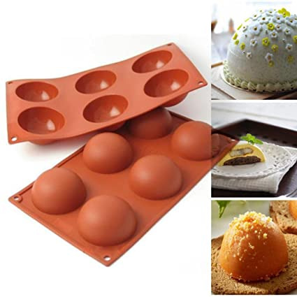 5 Half Ball Silicone Cupcake Mold Muffin Chocolate Cake Baking Mould Pan