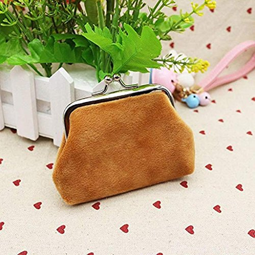 Wallet cute Clearance Lady Corduroy Purse small Noopvan wallets Brown Clutch Coin Hasp 2018 Mini Wallet Bag z47n1qwA
