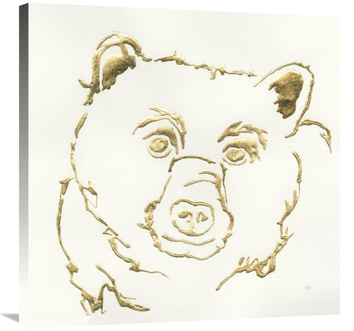 Global Gallery Chris Paschke Gilded Black Bear Canvas Artwork 30 x 30