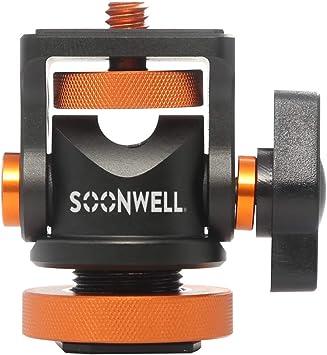 6x Spigot 1//4 3//8 Studio Flash Stand Adapter Studio Ball Head Universal Shoe Mount