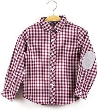 DADATI Camisa Niño Burdeos Cuadros 11817033 8 Rojo: Amazon.es ...